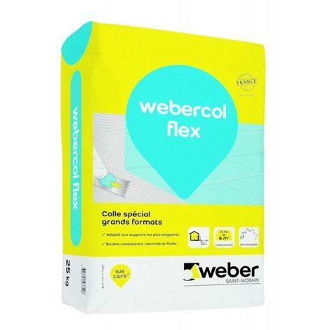 Webercol flex sac de 25 kg Gris -Weber