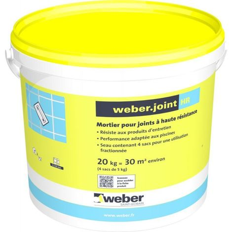 Weberjoint HR Gris ciment sac de 5 kg-Weber