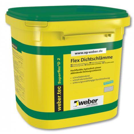weber.tec Superflex D 2 - Flex Dichtschlaemme, 2-K