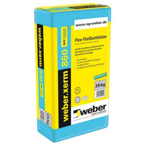 weber.xerm 860 BlueComfort, 25kg - Flex-Fliessbettkleber