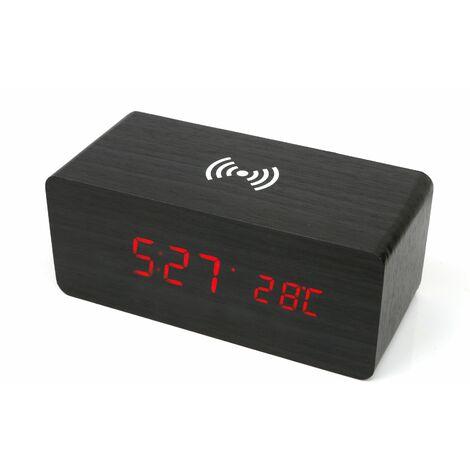 Wecker Wireless-Ladegerät braun50053-braun