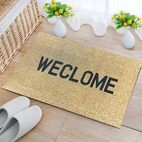 WECLOME Non Slip Fluff Rubber Door Mat Home Indoor Floor Carpet Rugs 45 x 70cm