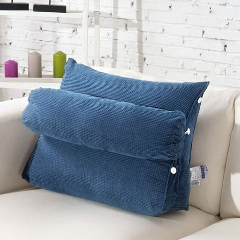 Wedge Back Pillow Rest Sleep Lumbar Cushion Sofa Bed Back Support