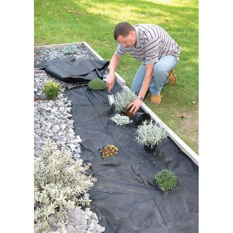 Weedstop 1.5m x 8m Weed Control Ground Sheet Matting Fabric Membrane Cover 50gsm