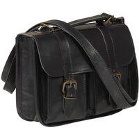 Weekend Bag Real Leather Black