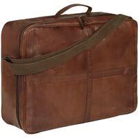 Weekend Bag Real Leather Brown