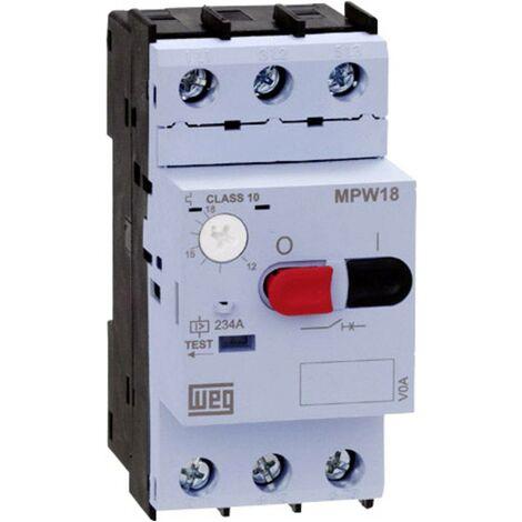 WEG MPW18-3-D063 Motorschutzschalter einstellbar 6.3A 1St. Y061721
