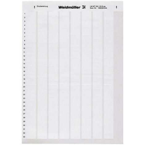 Weidmüller 1695711044-1 LM WritoOn 18X34 WS Etiquette LaserMark 12.7 x 18 mm Couleur de la surface de marquage: blanc N
