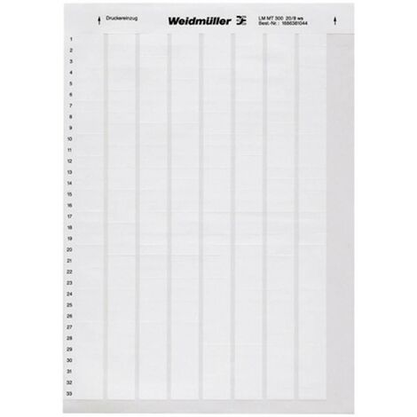 Weidmüller 1695721044-1 LM WRITE ON 23X55 WS Etiquette LaserMark 12.7 x 23 mm Couleur de la surface de marquage: blanc