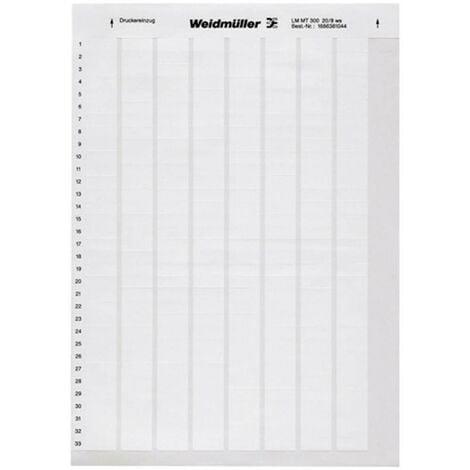 Weidmüller 1759871044-1 LM WriteOn 15X70 WS Etiquette LaserMark 30 x 15 mm Couleur de la surface de marquage: blanc Nom