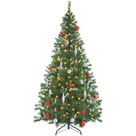 Weihnachtsbaum 140/150/180cm Metallständer künstlicher Tannenbaum LED Lichterkette Christbaum Baum Tanne Spritzguss Christbaumständer Mix/PE/PVC