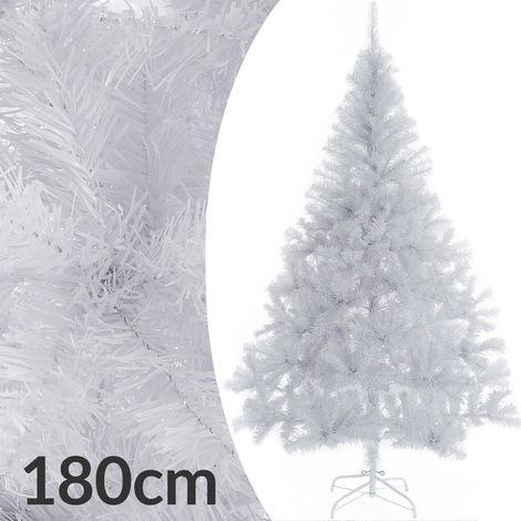 Weihnachtsbaum 180 cm Ständer künstlicher Tannenbaum Christbaum Baum Tanne Weihnachten Christbaumständer PVC Weiß