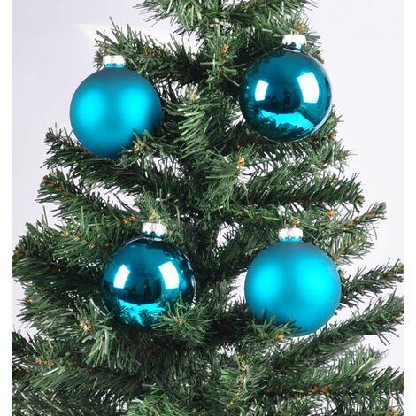 Glas-Weihnachtsbaumkugeln grün 2er-Set Christbaumschmuck Weihnachtsdeko 9cm