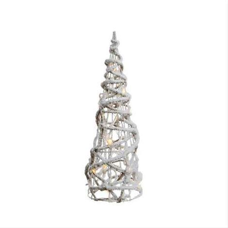 Weihnachtsbeleuchtung Kegel.Weihnachtsbeleuchtung Kaemingk Led Rattan Kegel Innen 90cm 48led Warmw