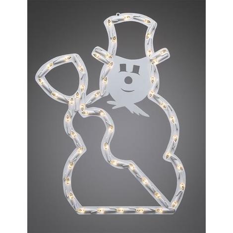 Konstsmide Weihnachtsbeleuchtung.Weihnachtsbeleuchtung Konstsmide Led Fenstersilhouette Schneemann