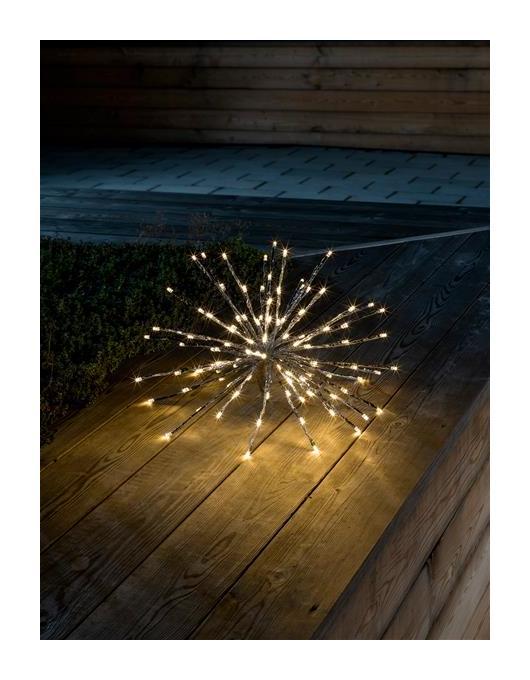 Weihnachtsbeleuchtung Kugel Aussen.Weihnachtsbeleuchtung Konstsmide Ledsternlichterball Außen Silber 40cm