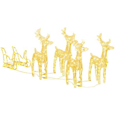 """main image of """"Weihnachtsdekoration Rentiere & Schlitten 280x28x55 cm Acryl"""""""