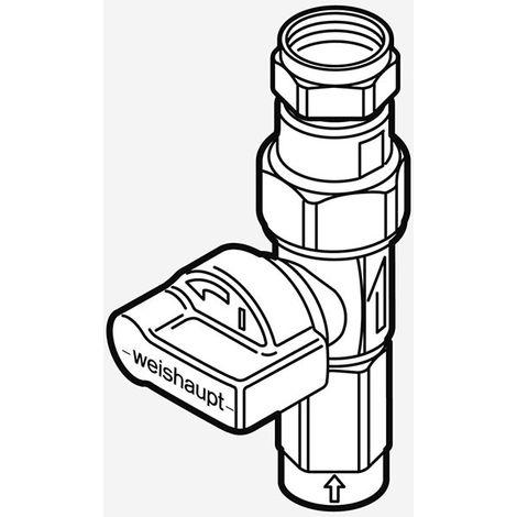 """Weishaupt Gas-Durchgangshahn mit TAE, 1/2""""IG x 18mm"""
