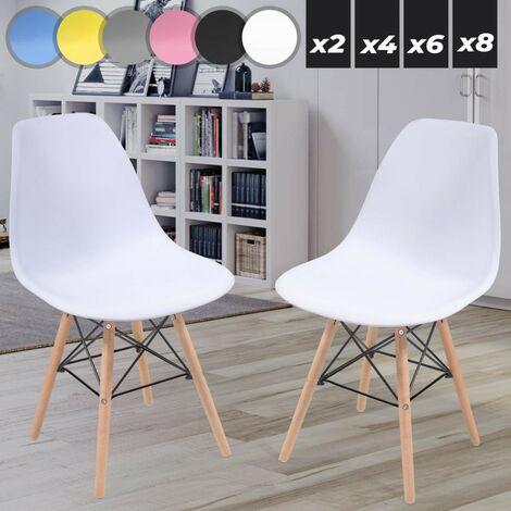 Weiss Esszimmerstühle 2 4 6 8 Set Stuhl Küchenstuhl Esszimmerstuhl Wohnzimmerstühle