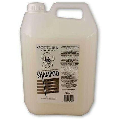 Weiß Haarshampoo mit Nerzöl 5 Liter | Hundeshampoo | Weißer Haar-Shampoo | hunde-Gesundheit