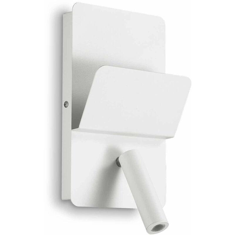 01-ideal Lux - Weiß READ Wandleuchte 1 Glühbirne