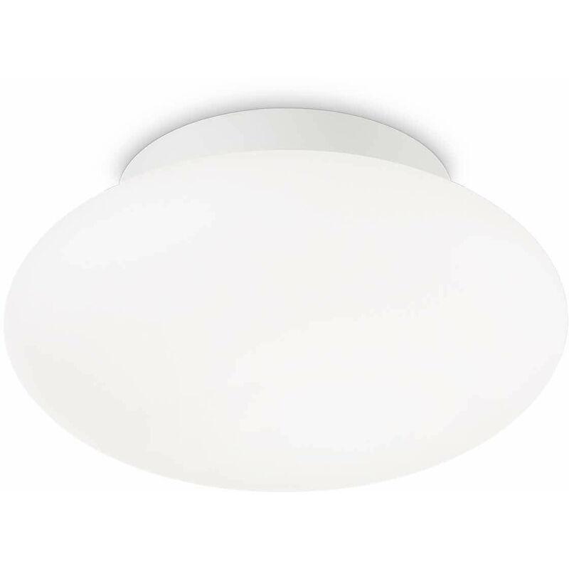 01-ideal Lux - Weiße BUBBLE Deckenleuchte 1 Glühbirne