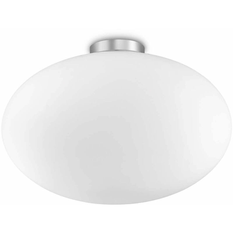 01-ideal Lux - Weiße CANDY Deckenleuchte 1 Glühbirne