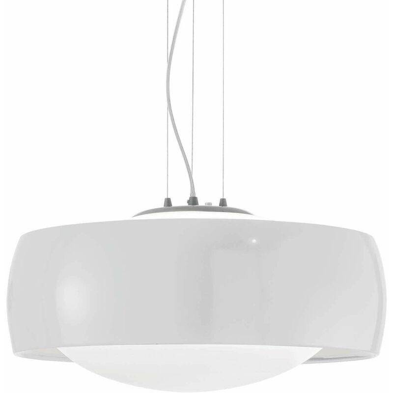 01-ideal Lux - Weiße COMFORT Pendelleuchte 1 Glühbirne