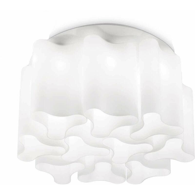 Weiße COMPO Deckenleuchte 10 Lampen