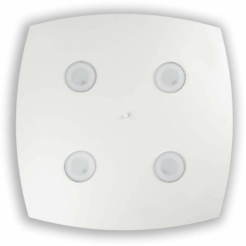01-ideal Lux - Weiße Deckenleuchte MITO 4 Lampen