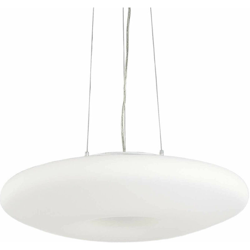 01-ideal Lux - Weiße GLORY Pendelleuchte 5 Glühbirnen