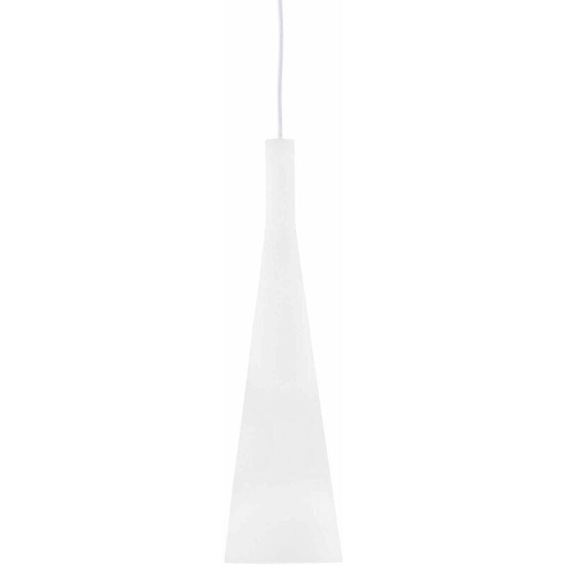 Weiße MILCH Pendelleuchte 1 Glühbirne