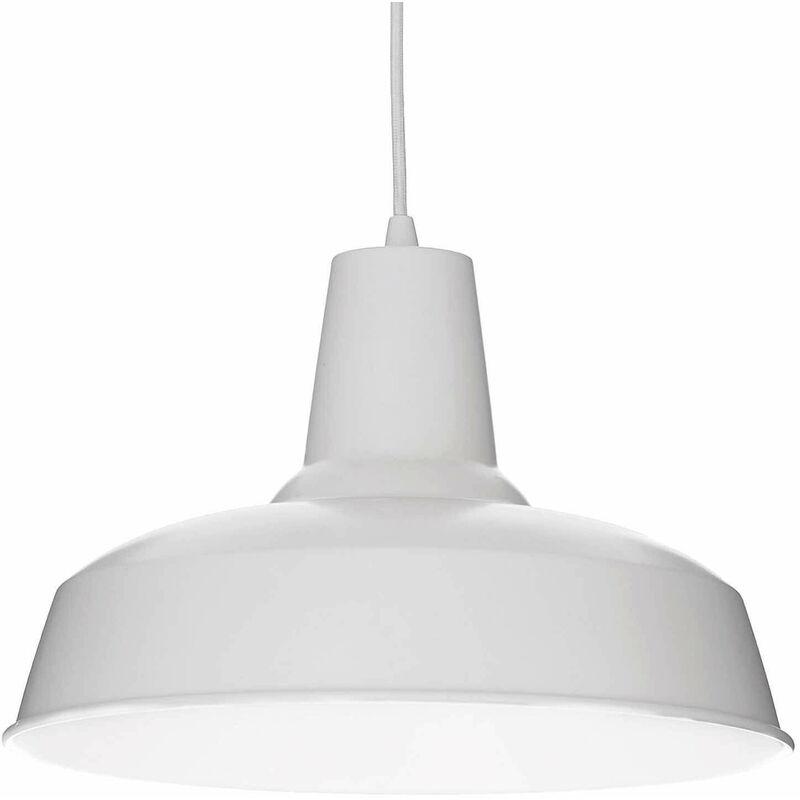 Weiße MOBY Pendelleuchte 1 Glühbirne