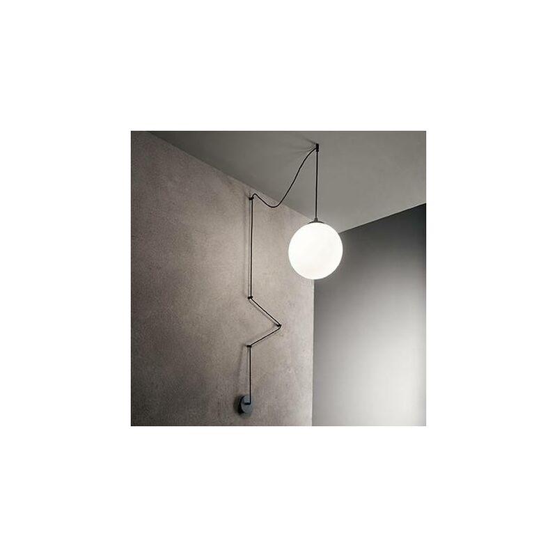 01-ideal Lux - Schwarze Pendelleuchte BOA 1 Glühbirne
