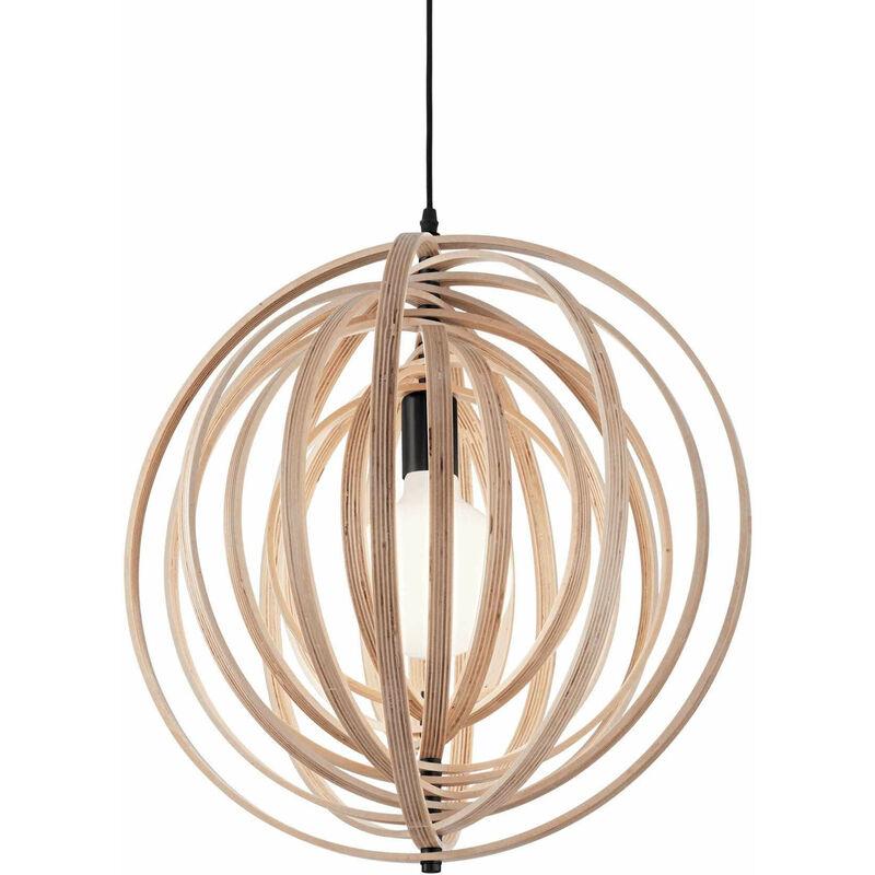 DISCO Holz Pendelleuchte 1 Glühbirne - 01-IDEAL LUX
