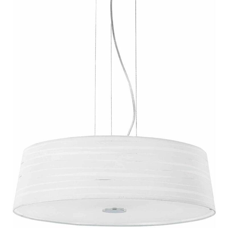 Weiße Pendelleuchte ISA 4 Glühbirnen - 01-IDEAL LUX