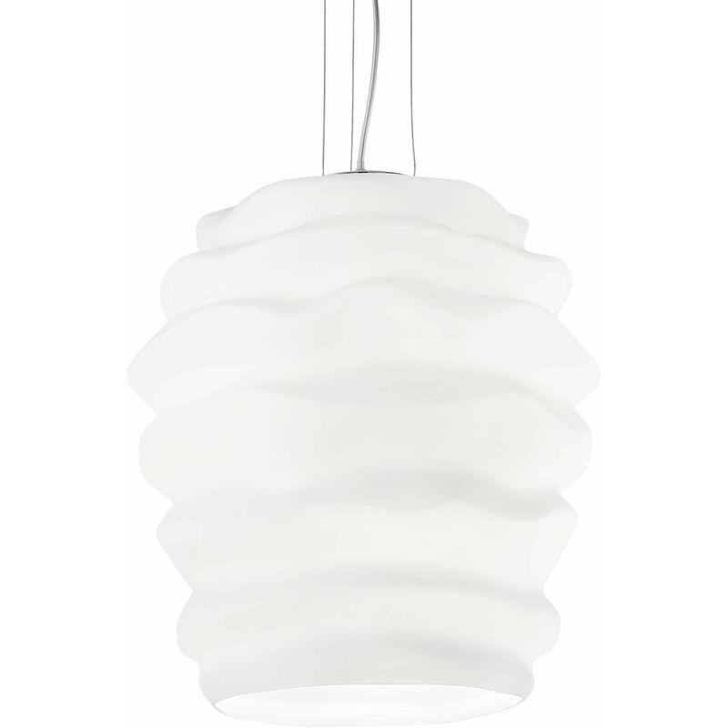 Weiße Pendelleuchte KARMA 1 Glühlampe Durchmesser 30 cm