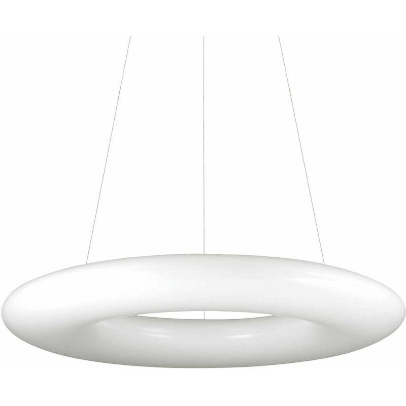 01-ideal Lux - Weiße Pendelleuchte POLO 220 Glühbirnen