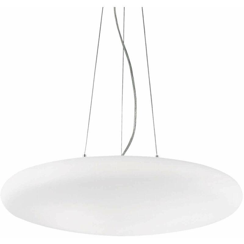01-ideal Lux - Weiße Pendelleuchte SMARTIES BIANCO 5 Glühbirnen