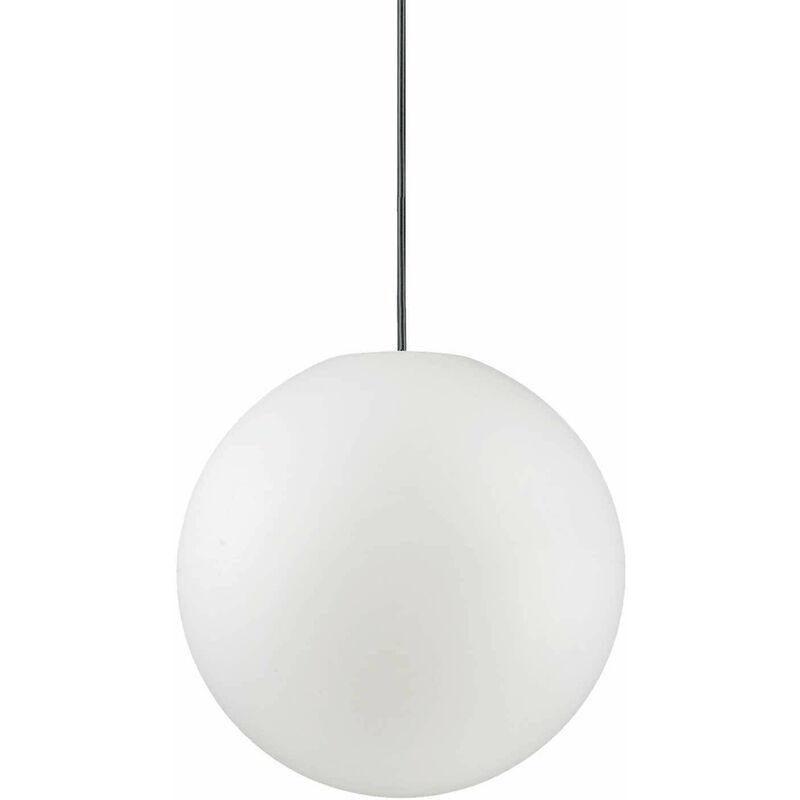 Weiße Pendelleuchte SOLE 1 Glühbirne