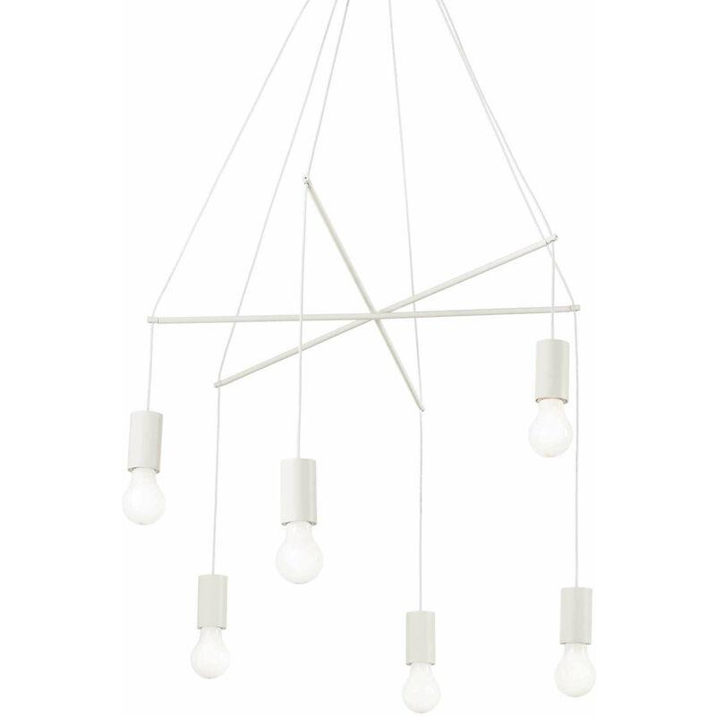 Weiße POP Pendelleuchte 6 Lampen