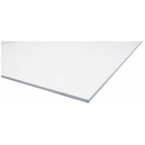 Weiße PVC-Streckfolie - Farben - Weiß, Dicke - 3 mm, Breite - 100 cm, Länge - 200 cm, Deckfläche in m² - 2