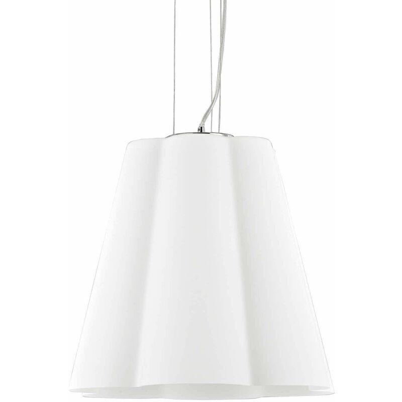 Weiße SESTO Pendelleuchte 1 Glühlampe Durchmesser 50 cm