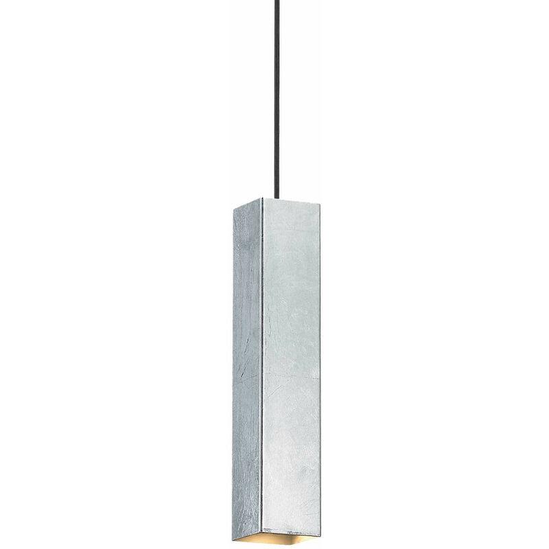 01-ideal Lux - SKY silberne Pendelleuchte 1 Glühbirne
