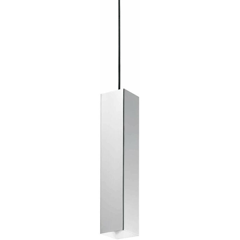 01-ideal Lux - SKY Chrom Pendelleuchte 1 Glühbirne