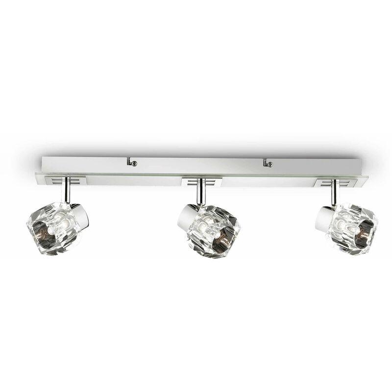 01-ideal Lux - Weiße Wandleuchte NOSTALGIA 3 Glühbirnen
