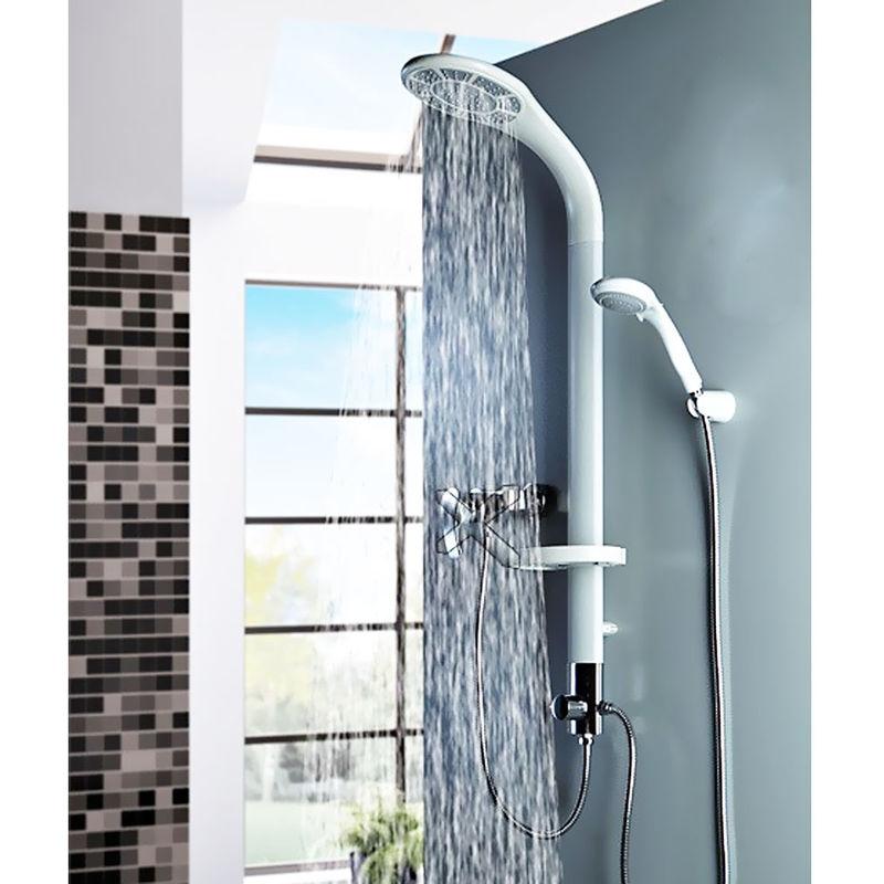 Aluminium Duschpaneel Duschsäule in weiß von Sanlingo