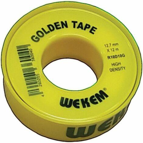 WEKEM Gewindedichtband PTFE Golden Band 12,7mm x 12m gelb