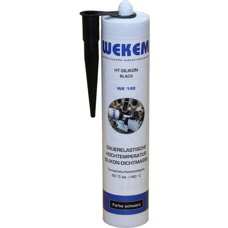 WEKEM WK 148 Hochtemperatursilikon schwarz 310 ml