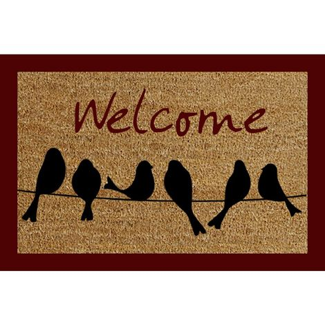 Welcome Birds Door Mat